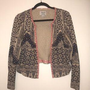 Lucky Brand Cotton Jacket - Sand/Navy